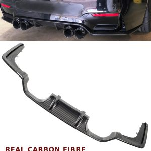 BMW 3 4 SERIES F80 F82 F83 M3 M4 REAR DIFFUSER VALANCE 3D STYLE CARBON FIBRE 15+