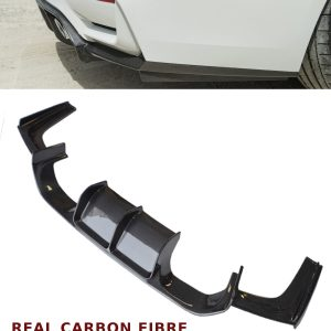 BMW 3 4 SERIES F80 F82 M3 M4 REAR DIFFUSER VALANCE V STYLE CARBON FIBRE 15+
