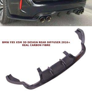 BMW X5 M F85 X6 M F86 REAR DIFFUSER SPLITTER 3D DESIGN CARBON FIBRE