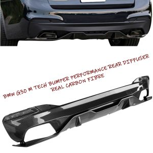 BMW 5 SERIES G30 M TECH M PERFORMANCE REAR BUMPER DIFFUSER VALANCE CARBON FIBRE