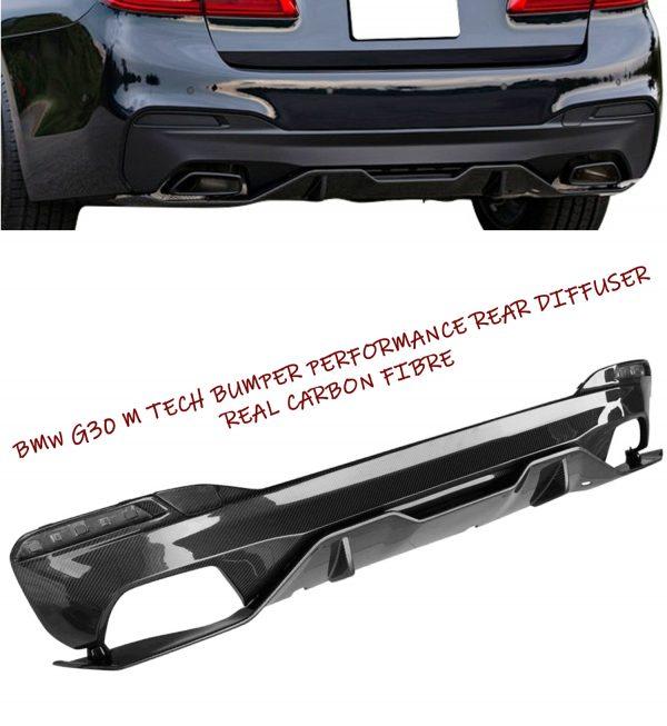 BMW 5 SERIES G30 M TECH M PERFORMANCE REAR BUMPER DIFFUSER VALANCE CARBON FIBRE