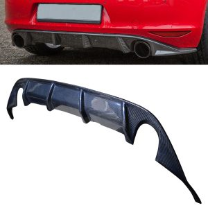 VW GOLF MK 7 GTI REAR DIFFUSER SPLITTER VALANCE OEM FIT REAL CARBON FIBRE 12-17