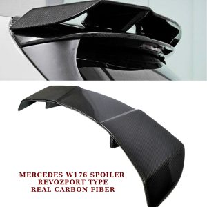 MERCEDES A CLASS W176 ROOF SPOILER WING REVOZPORT TYPE REAL CARBON FIBER 12-17