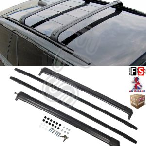 BLACK ALUMINIUM ROOF RAILS ROOF BAR RACKS FOR RANGE ROVER SPORT 2005-2013