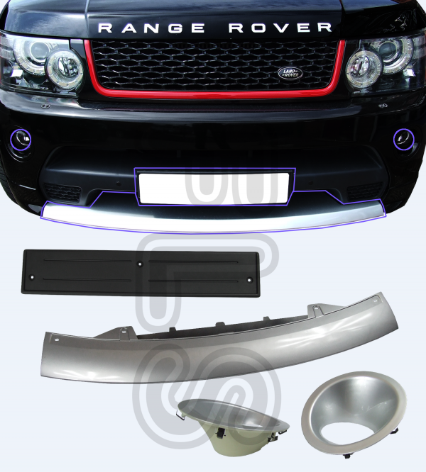 AUTOBIOGRAPHY FRONT BUMPER TOW EYE COVER SET FOR RANGE ROVER SPORT 10-13