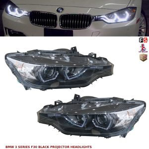 BMW 3 SERIES F30 F31 BLACK LED DRL PROJECTOR ANGEL EYES HEADLIGHTS