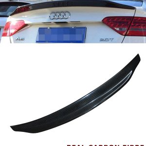 AUDI A5 4 DOOR REAR TRUNK BOOT SPOILER CARACTERE TYPE REAL CARBON FIBRE 11-16