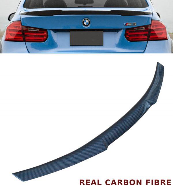 BMW 3 SERIES E92 COUPE V STYLE REAR TRUNK BOOT SPOILER REAL CARBON FIBRE 07-13