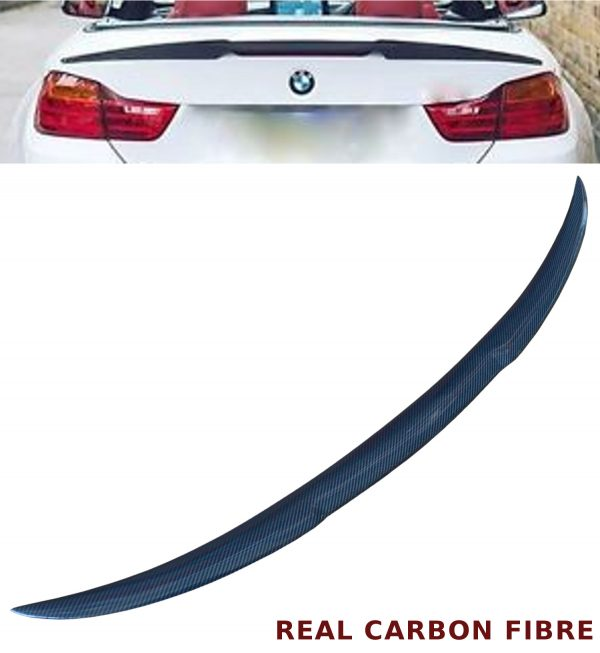 BMW 3 SERIES E93 CONVERTIBLE V STYLE REAR TRUNK BOOT SPOILER REAL CARBON FIBRE