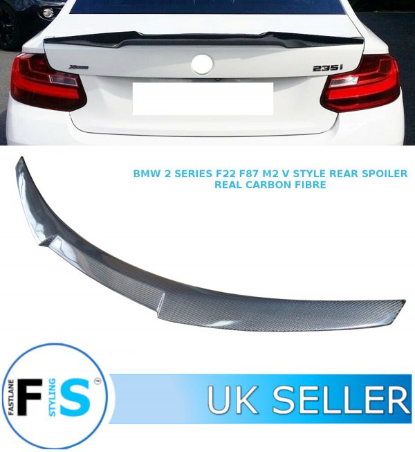 BMW 2 SERIES F22 F87 COUPE M2 V STYLE REAR TRUNK BOOT SPOILER