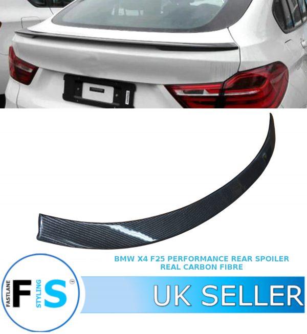 BMW X4 F26 M PERFORMANCE REAR TRUNK BOOT LIP SPOILER
