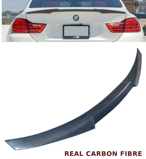 BMW 4 SERIES F32 COUPE M4 STYLE REAR TRUNK BOOT SPOILER REAL CARBON FIBRE 2014+