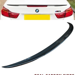 BMW 4 SERIES F33 CONVERTIBLE PERFORMANCE REAR TRUNK BOOT SPOILER CARBON FIBRE