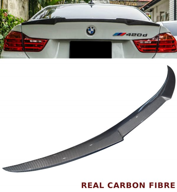 BMW 4 SERIES F33 F83 M4 CONVERTIBLE V STYLE REAR BOOT SPOILER