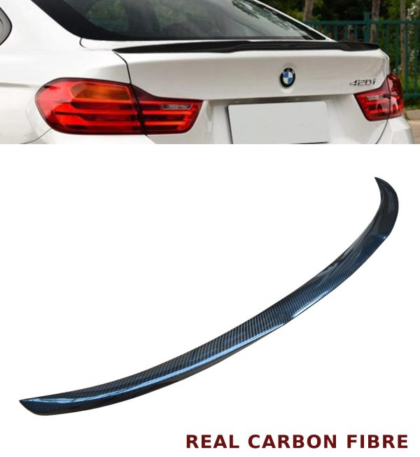 BMW 4 SERIES F36 GRAN COUPE V STYLE REAR TRUNK BOOT SPOILER CARBON FIBRE 14+