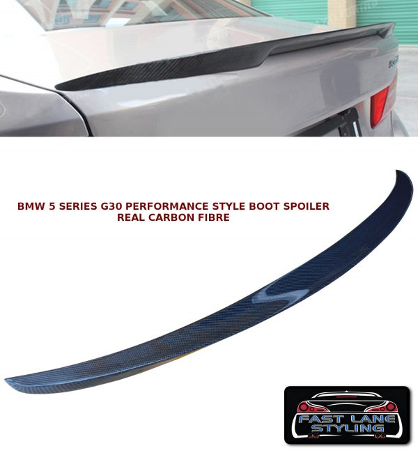 BMW 5 SERIES G30 PERFORMANCE STYLE REAR TRUNK BOOT LIP SPOILER CARBON FIBRE 17+