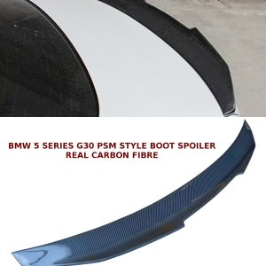 BMW 5 SERIES G30 PSM STYLE REAR TRUNK BOOT LIP SPOILER CARBON FIBRE 2017+