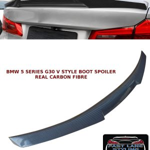 BMW 5 SERIES G30 M4 V STYLE REAR TRUNK BOOT LIP SPOILER CARBON FIBRE 2017+
