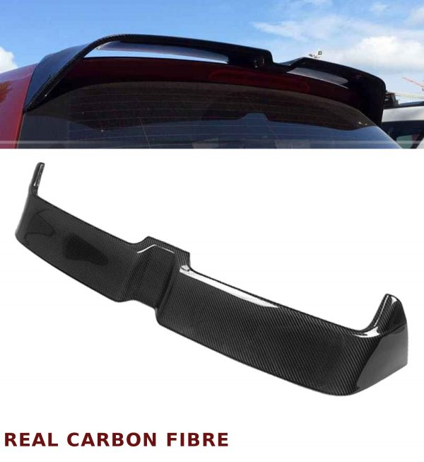 VW GOLF MK7 O STYLE REAR ROOF SPOILER WING REAL CARBON FIBRE GOLF VII 2012-2017