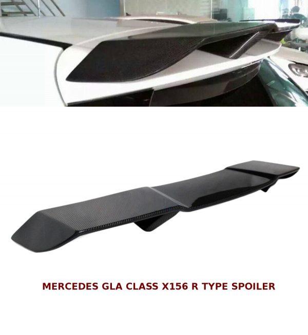 MERCEDES GLA CLASS X156 REVOSPORT TYPE REAR ROOF SPOILER 2016+ REAL CARBON FIBRE