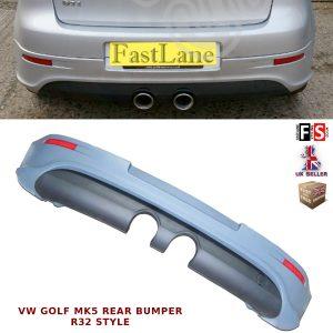 VW GOLF MK5 REAR BUMPER DIFFUSER R32 LOOK