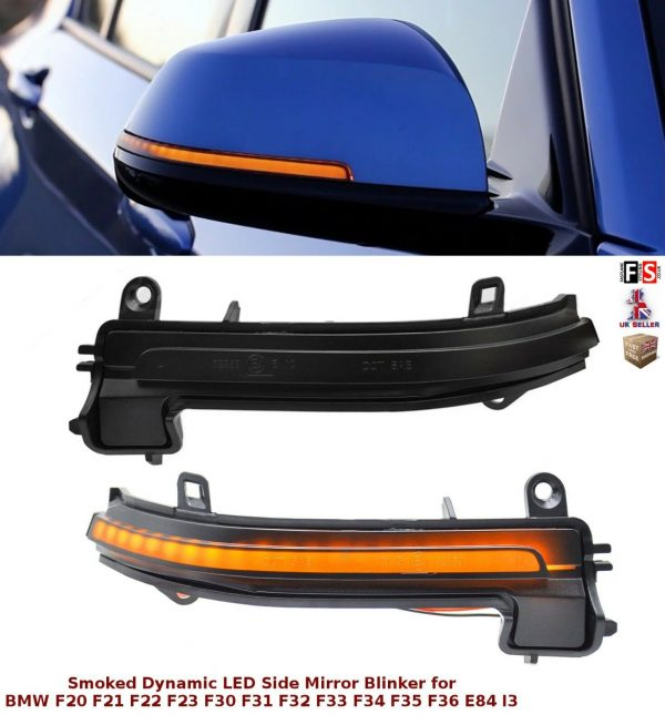 BMW LED SMOKED DYNAMIC SEQUENTIAL SIDE MIRROR TURN SIGNAL LIGHTS