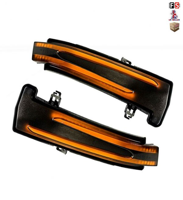 MERCEDES LED SMOKED DYNAMIC SEQUENTIAL SIDE MIRROR TURN SIGNAL LIGHTS