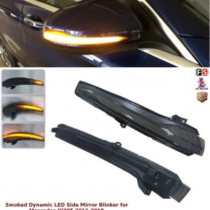 MERCEDES C CLASS W205 LED SMOKED DYNAMIC BLINKER SIDE MIRROR TURN SIGNAL LIGHTS
