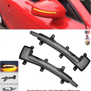 AUDI LED SMOKED DYNAMIC SEQUENTIAL SIDE MIRROR TURN SIGNAL LIGHTS