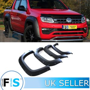 VW AMAROK MATTE BLACK WIDE BODY WHEEL ARCH