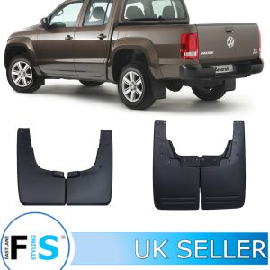 VW AMAROK 2010+ BLACK WHEEL ARCH MUD FLAPS
