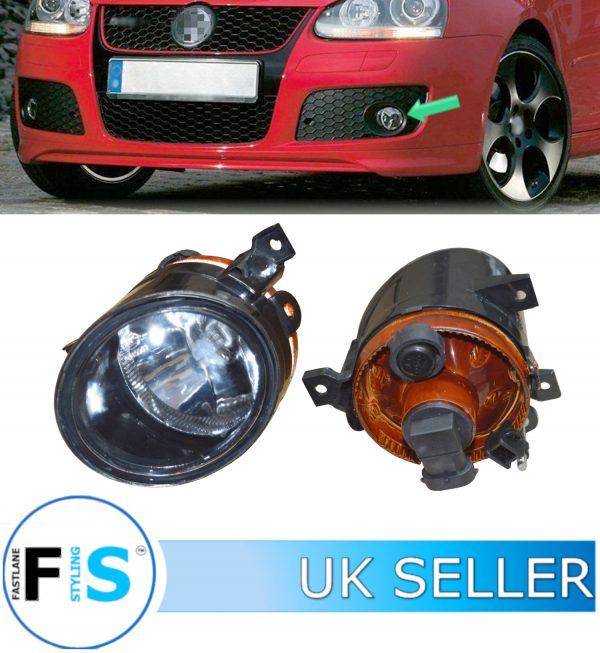 VW GOLF MK5 GTI GTD FRONT BUMPER FOG LIGHTS