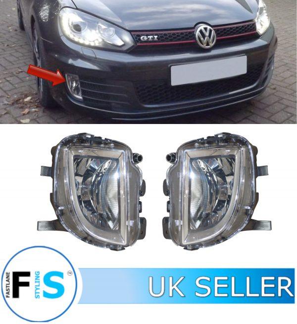 VW GOLF MK6 GTI GTD FRONT BUMPER FOG LIGHTS