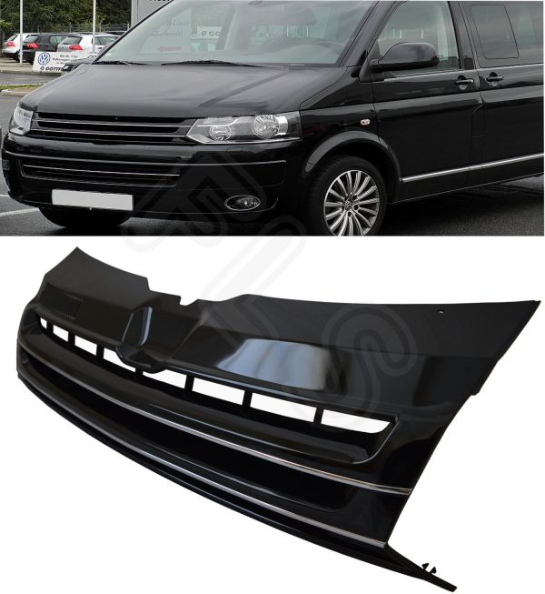 VW T5 TRANSPORTER BADGELESS HIGH QUALITY FRONT GRILLE FROM 2010 ONWARDS