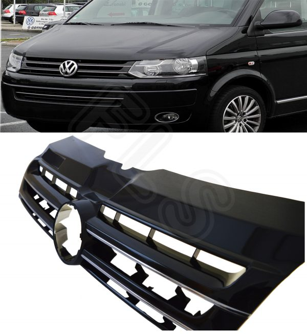 VW T5 TRANSPORTER CARAVELLE MULTIVAN HIGH QUALITY FRONT GRILLE 2009 ON-VWT5FG-WB