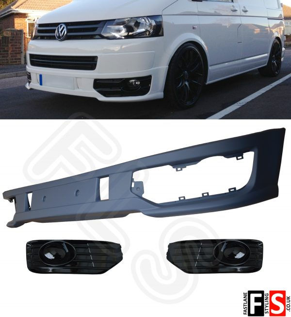 VW TRANSPORTER T5 LOWER SPORTLINE FRONT SPLITTER SPOILER ABS LIP NOT FIBERGLASS