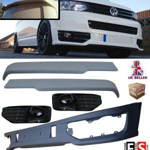 FRONT SPLITTER SPOILER AND BARN DOOR REAR SPOILER FOR VW T5 TRANSPORTER