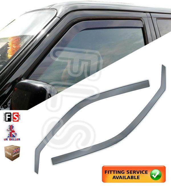 VW TRANSPORTER T5 T6 2003-2016 WIND DEFLECTORS 2PCs FRONT SET INTERNAL FIT