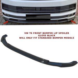 VW TRANSPORTER T6 LOWER FRONT ABS GLOSS BLACK SPLITTER SPOILER BUMPER LIP ADD ON