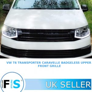 VW T6 TRANSPORTER CARAVELLE BADGELESS FRONT GRILLE