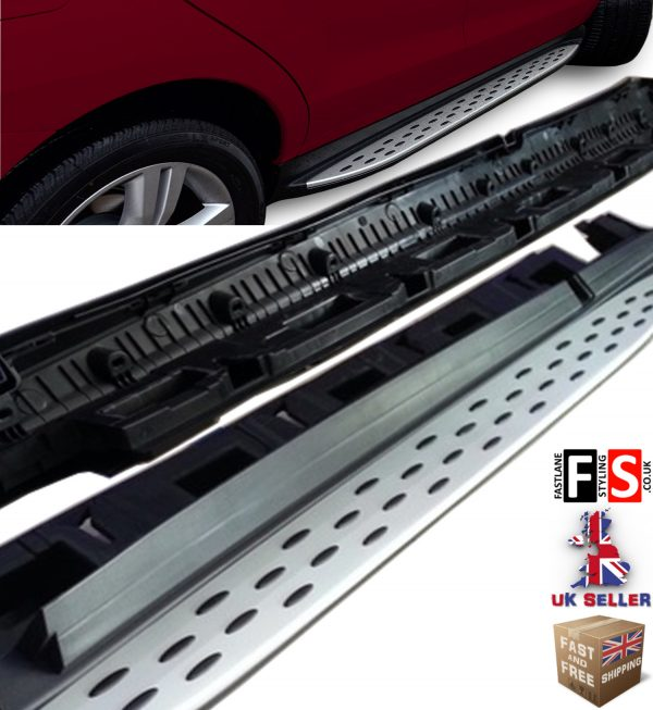 MERCEDES BENZ ML GLE W166 SIDE STEPS RUNNING BOARDS 2012 UP 100% FIT OEM STYLE