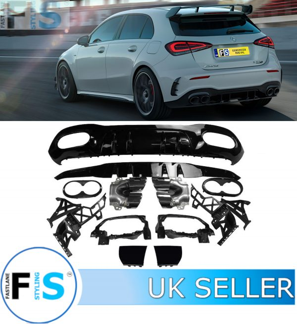 MERCEDES A CLASS W177 AMG A45 LOOK REAR DIFFUSER TAILPIPE
