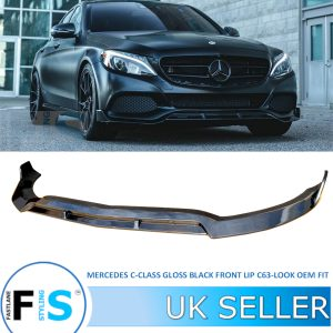 MERCEDES C CLASS W205 C205 C63AMG LOOK FRONT LIP SPLITTER
