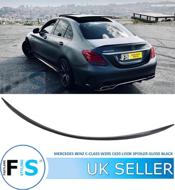 MERCEDES C CLASS W205 AMG STYLE SPORT REAR TRUNK BOOT SPOILER
