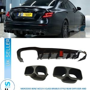MERCEDES BENZ E CLASS W213 B-STYLE REAR DIFFUSER AND TAILPIPES