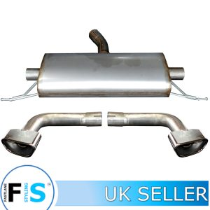 BMW X3 X4 F25/26 T304 STAINLESS STEEL CUSTOM BACK BOX & TAILPIPES