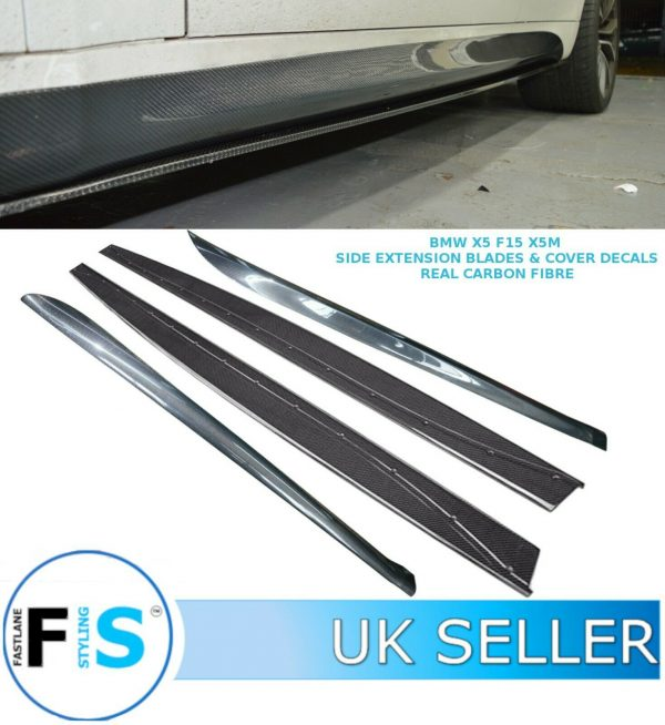 BMW X5 X6 SIDE SKIRT EXTENSION BLADES & SIDE COVER DECALS