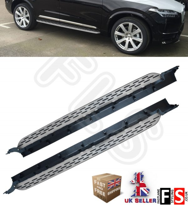 VOLVO XC90 ALUMINIUM SIDE STEPS RUNNING BOARDS BARS 2016 UP OEM STYLE