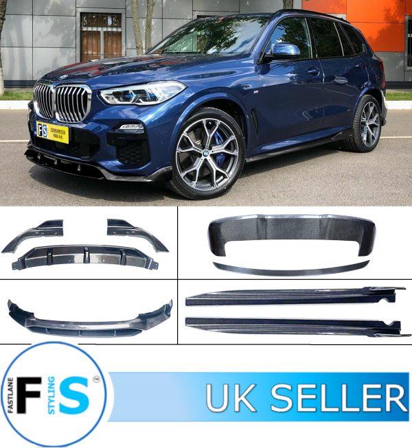 BMW X5 G05 ABS BODYKIT FRONT SPLITTER LIP REAR DIFFUSER SIDE SKIRTS