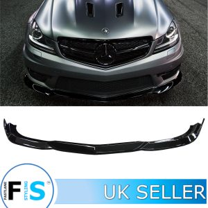 MERCEDES C CLASS W204 C63 AMG LOOK FRONT LIP SPLITTER
